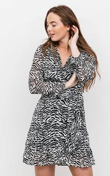 Dress Anneke - Crossed fabric glittery dress