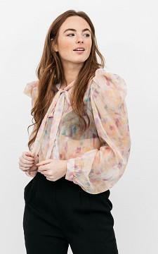 Blouse Samira - See-through blouse with balloon sleeves
