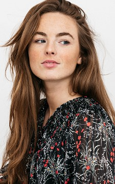 Top Wilke - Floral top with glitters