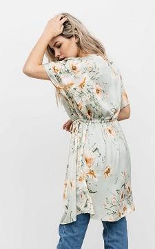 Kimono Samira - Satijnen look kimono met print