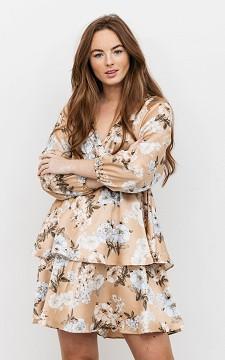 Kleid Tommie - Kurzes Volantkleid mit floralem Muster