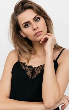 Top Willeke - Cami top with lace