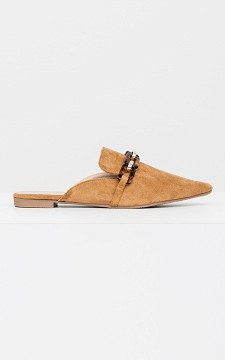 Loafer Carlyn - Open loafer met ketting detail