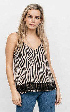 Top Sharon - Zebra pattern top with lace