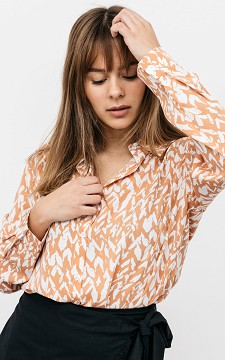 Bluse Petra - Oversized Bluse mit abstraktem Muster