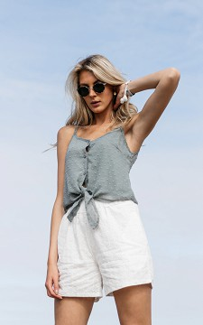 Shorts Quin - Patterned shorts with a belt