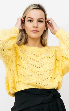 Trui Willeke - Oversized trui met pofmouwen