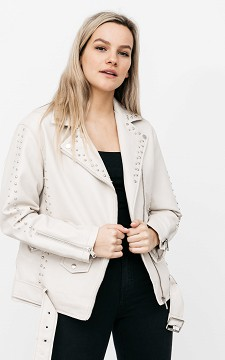 Jacket Mischa - Oversized biker jacket with studs