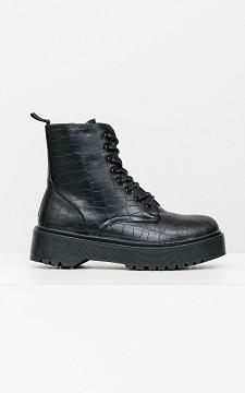 Boots Benthe - Biker boots met een grove zool