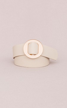 Belt Lieve - Belt with a round buckle
