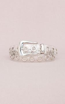 Belt Meryem - See-through belt with metal rings
