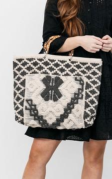 Tas Elvira - Handgemaakte tas met bamboe handvaten