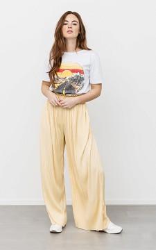 Trousers Sude - Flowy plissé trousers
