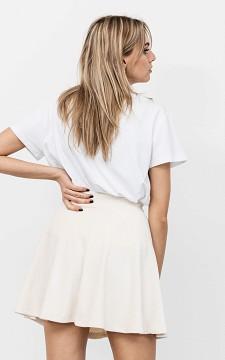 Skirt Miriam - Ribbed velvet fabric skirt