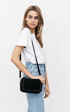 Bag Serena - Suède bag with gold coated details