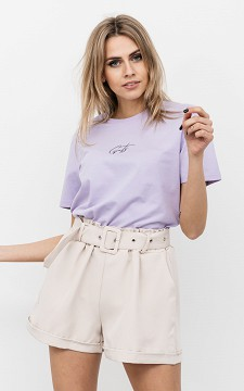 Shorts Stella - Paperbag shorts with a belt detail