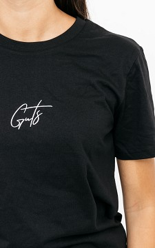 Shirt Giel - Basic T-shirt with decorative script