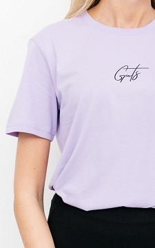 Shirt Giel - Basic T-shirt with decorative script