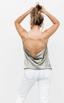 Top Caroline - Satin-look top with an open back