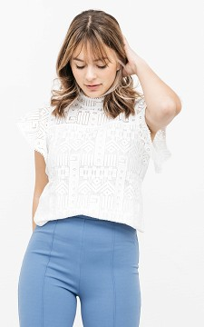 Top Willem - Top with lace detailing
