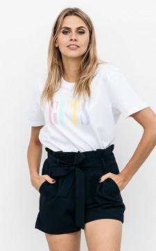 Shorts Yara - Paperbag shorts with pockets