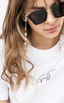 Brillenband Shaelle - Brillenkette mit goldfarbenen Muscheln