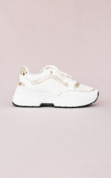 Sneaker Calien - Sneakers with gold coloured details