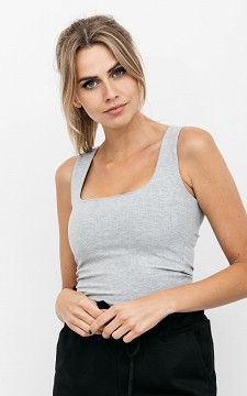 Top Dyan - Tank top with a square neckline