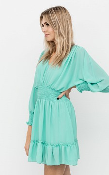 Dress Tiffany - Long sleeve dress with pinched fabric