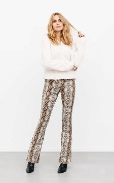 Trousers Maaike - Flared, snakeskin patterned trousers