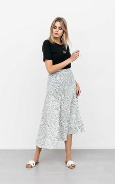 Skirt Dyonne - Patterned skirt with a side split