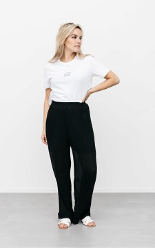 Trousers Ciara - Plissé trousers with pockets