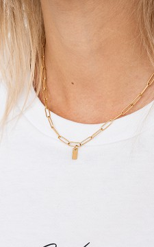 Necklace Noelle - Necklace with oval shaped chain links