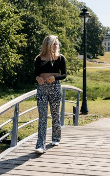 Trousers Paula - Patterned & flared trousers