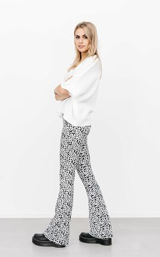 Trousers Alain - Patterned, flared trousers
