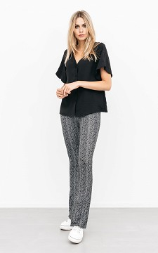 Trousers Gwen - Patterned, flared trousers