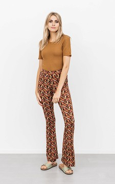 Trousers Rowan - Patterned, flared trousers