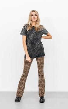 Trousers Davy - Patterned, flared trousers