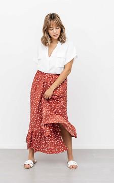 Skirt Evita - Patterned skirt with a split