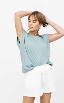 Shirt Willem - Striped shirt with shoulder padding