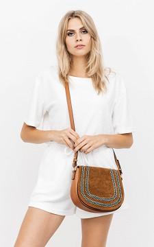 Bag Sofia - Suède-look bag with glittery detail
