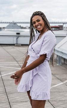 Dress Fabio - Wrap-around dress with ruffles