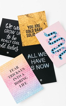 Card Set Poison - Set of cards with quotes