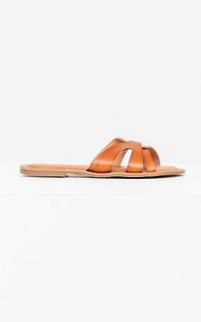 Flip Flop Corine - Leather-look, slip-on sandals
