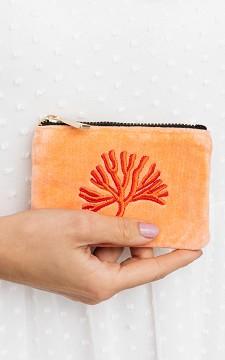 Purse Coral - Velvet look purse