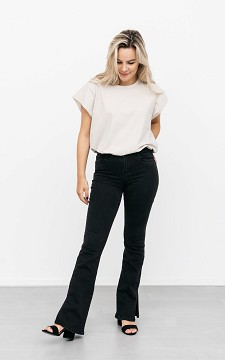 Jeans Marleen - High waist flared jeans met split