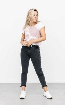 Jeans Lissy - Ausgefallene Jeans mit zerstörtem Saum