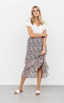 Skirt Jasmijn - Patterned skirt with ruffles