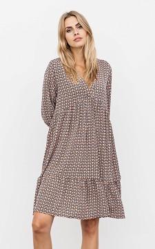 Dress Serina - Patterned V-neck dress