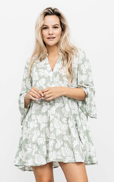 Dress Larsa - Patterned dress with buttons